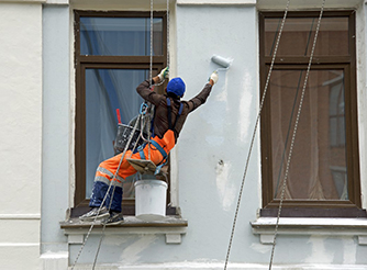 Repair and restoration of a facade of a building